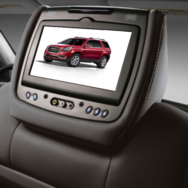 2014 Acadia DVD Headrest System, Ebony, Leather
