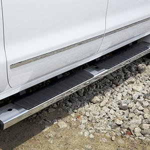 2016 Yukon Tubular Assist Steps - Rectangular, 6-Inch, Chrome