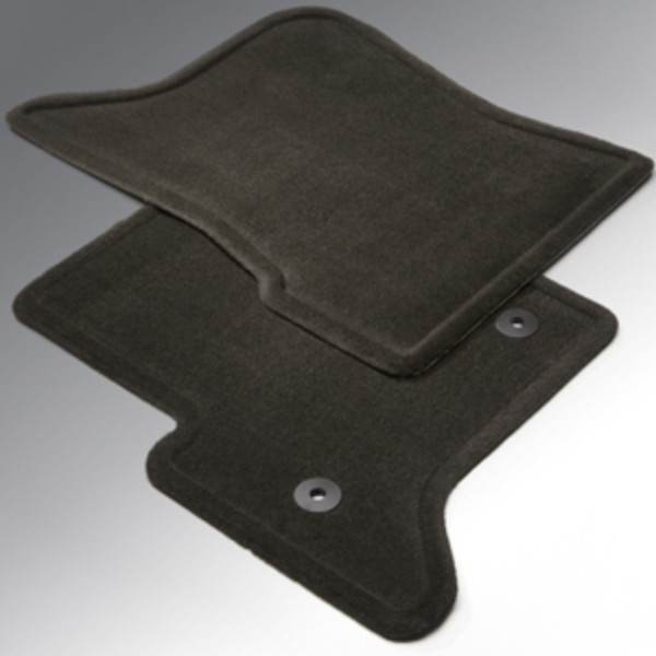 2014 Sierra 1500 Floor Mats Front Molded Carpet, Black