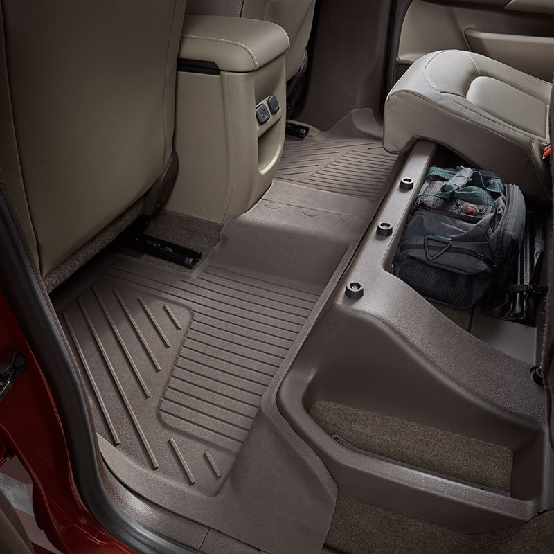 2015 Canyon Crew Cab Premium Floor Liners, Rear, Cocoa