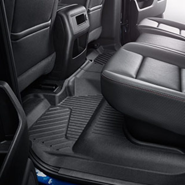 2017 Sierra 2500 Premium All Weather Floor Liners Crew Cab Rear, Bl