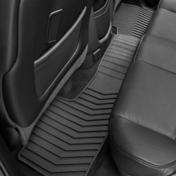 2017 Sierra 2500 Premium All Weather Floor Liners Dble Cab Rear, Bl