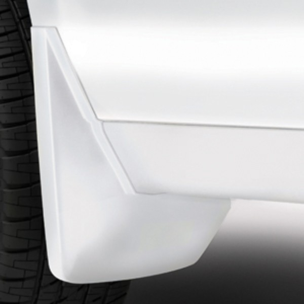 2016 Yukon XL Splash Guards Rear Molded, White Frost Tricoat