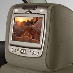 2016 Yukon Dual DVD Headrest System, Dune Cloth w Shale Stitch