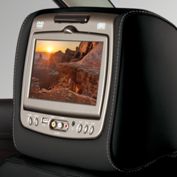2016 Yukon Dual DVD Headrest System, Jet Black Cloth w Light