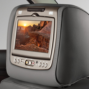 2016 Yukon DVD Headrest System, Dark Ash Gray with Light Gray Stitching