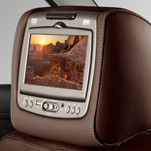 2016 Yukon Dual DVD Headrest System, Pillion Brown Vinyl w Shal