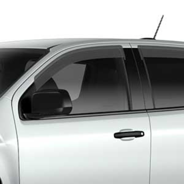 2016 Canyon Side Window Weather Deflectors, Extended Cab, Smoke