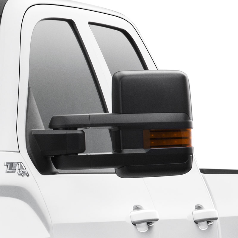 2017 Sierra 2500 Trailering Mirrors, Manual, Extendable, Black