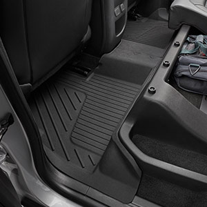 2016 Canyon Crew Cab Premium Floor Liners Rear Jet Black