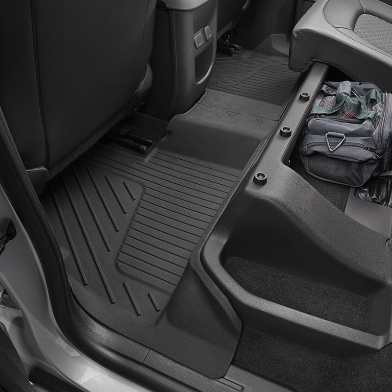 2016 Canyon Extended Cab Premium Floor Liners, Rear, Jet Black