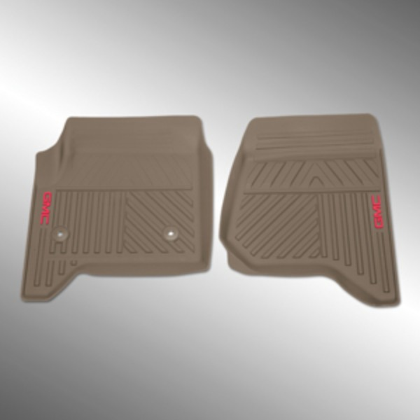 2016 Sierra 1500 Floor Mats Front Premium All Weather, Dune