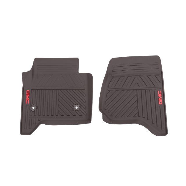 2016 Sierra 1500 Floor Mats Front Premium All Weather, Cocoa