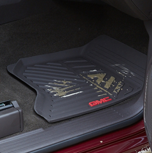2014 Sierra 1500 Floor Mats Front Premium All Weather, Black