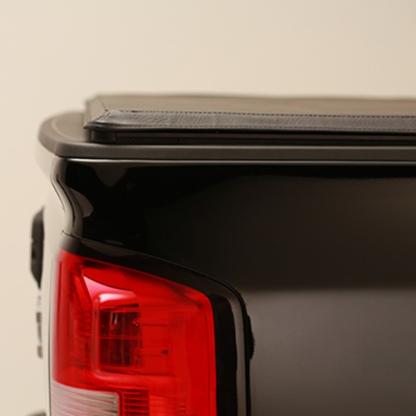 2015 Sierra 1500 Tonneau Cover Hard Folding Tri-Fold, High Gloss Black, For Use on 5ft 8inch Short Box