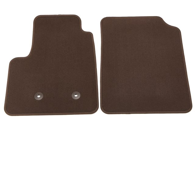 2016 Canyon Premium Carpet Floor Mats, Front, Cocoa