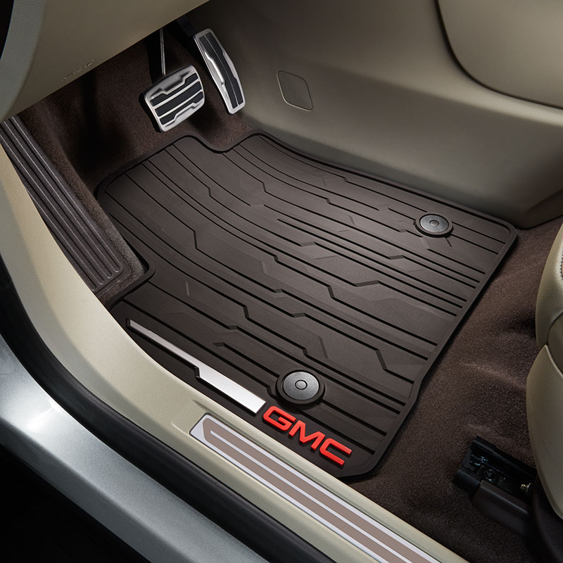 2017 Acadia All Weather Floor Mats For Front Cocoa