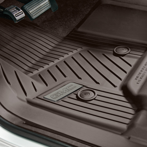 2016 Yukon XL Premium All Weather Floor Liners Front, Cocoa