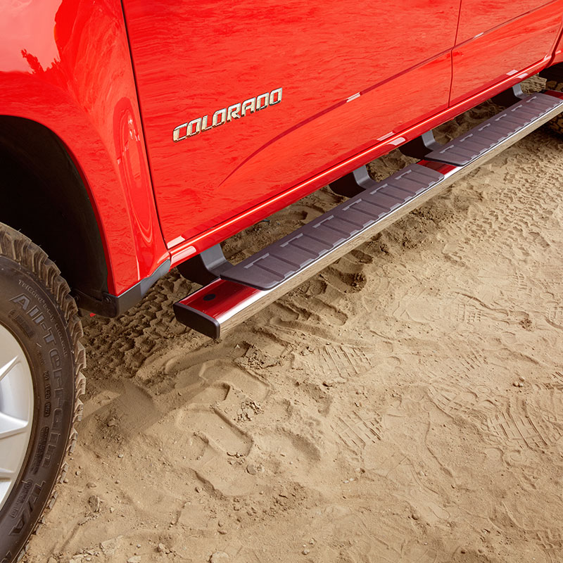 2018 Canyon Extended Cab Assist Steps, 5 inch Rectangular, Chrome