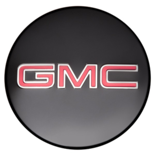 2018 Canyon Center Caps, Black with Red GMC Logo, Set of 4