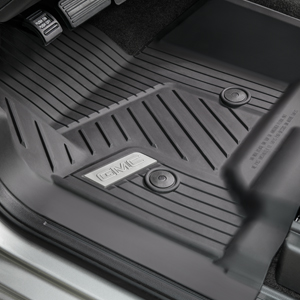 2018 Sierra 1500 Premium All Weather Floor Liners Front, Black