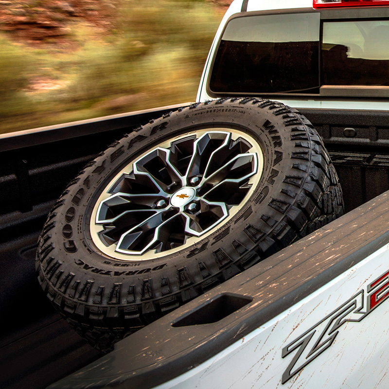 2018 Canyon Spare Tire Carrier, Cargo Bed Mounted, ZR2 Style